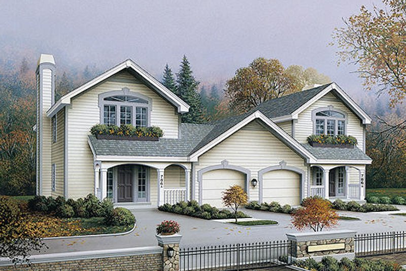 Traditional Style House Plan - 2 Beds 1.5 Baths 2408 Sq/Ft Plan #57-571 Exterior - Front Elevation