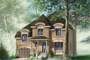 European Style House Plan - 3 Beds 1 Baths 1790 Sq/Ft Plan #25-4680 Exterior - Front Elevation