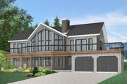 Contemporary Style House Plan - 4 Beds 3 Baths 3105 Sq/Ft Plan #23-2022 Exterior - Front Elevation