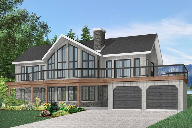 Contemporary Exterior - Front Elevation Plan #23-2022