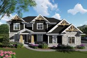 Craftsman Style House Plan - 4 Beds 3.5 Baths 3388 Sq/Ft Plan #70-1432 Exterior - Front Elevation