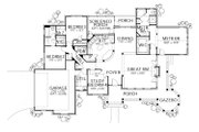 Country Style House Plan - 4 Beds 2.5 Baths 2184 Sq/Ft Plan #80-119 Floor Plan - Main Floor Plan