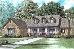 Southern Exterior - Front Elevation Plan #17-2588