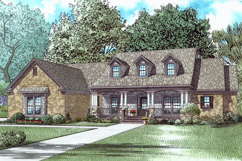 Architectural House Design - Southern Exterior - Front Elevation Plan #17-2588