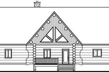 Log Exterior - Rear Elevation Plan #23-752