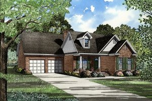 Traditional Exterior - Front Elevation Plan #17-1003