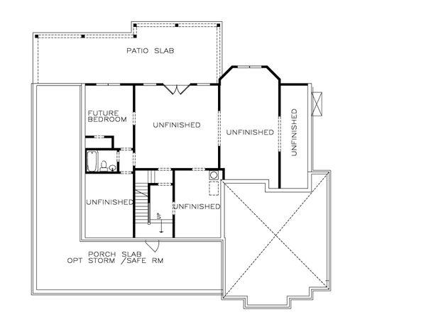 Home Plan - Farmhouse Floor Plan - Lower Floor Plan #54-378