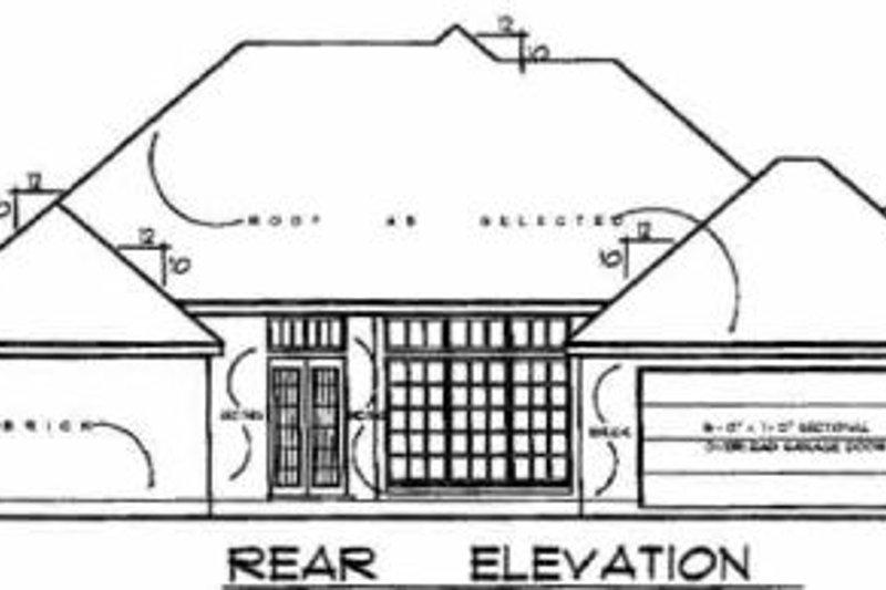 European Exterior - Rear Elevation Plan #40-162 - Houseplans.com