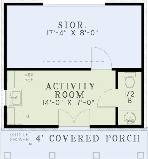 Southern Floor Plan - Main Floor Plan Plan #17-2575