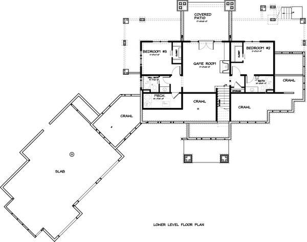 Ranch Floor Plan - Lower Floor Plan #895-29