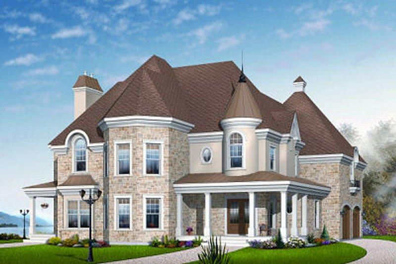 Home Plan - European Exterior - Front Elevation Plan #23-844
