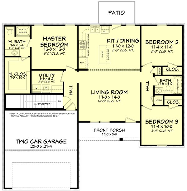 Ranch Floor Plan - Other Floor Plan Plan #430-181