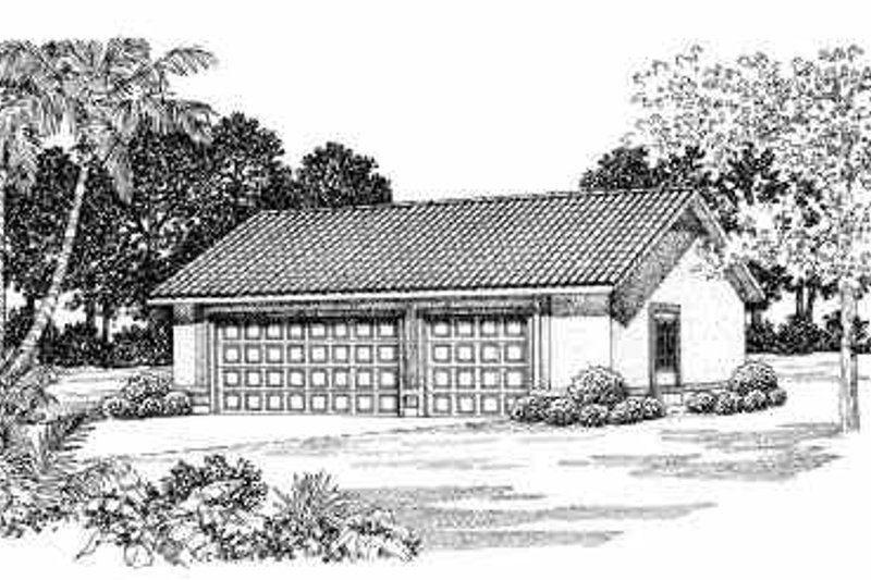 Traditional Exterior - Front Elevation Plan #72-277 - Houseplans.com