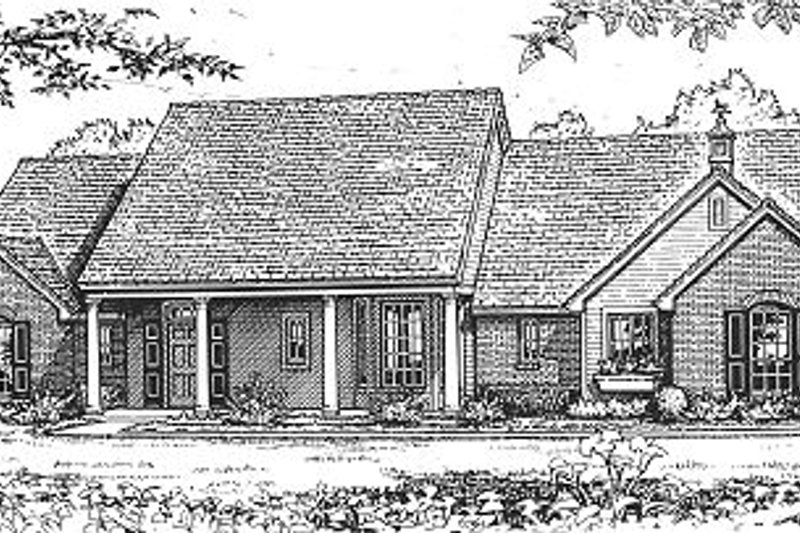 Farmhouse Style House Plan - 3 Beds 2.5 Baths 1724 Sq/Ft Plan #310-605 Exterior - Front Elevation