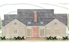 Dream House Plan - Southern Exterior - Rear Elevation Plan #406-284
