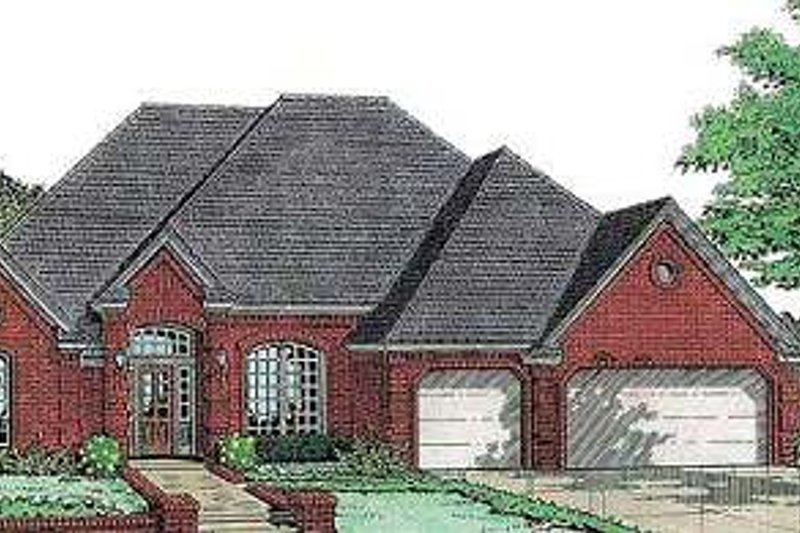 European Style House Plan - 5 Beds 3 Baths 2590 Sq/Ft Plan #310-627 Exterior - Front Elevation