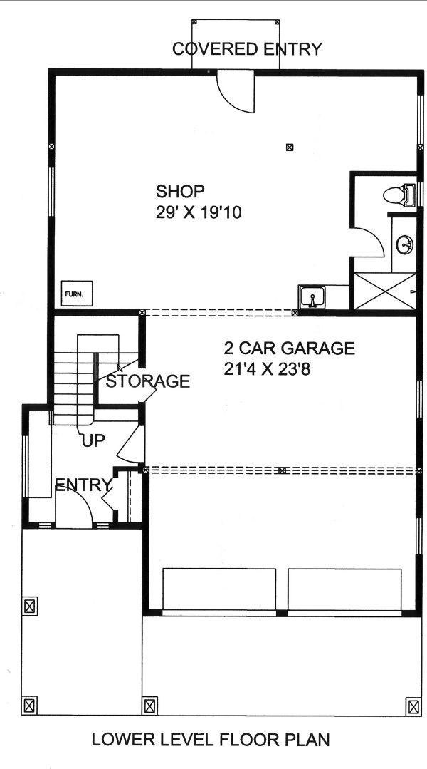 House Plan Design - Mediterranean Floor Plan - Lower Floor Plan #117-884