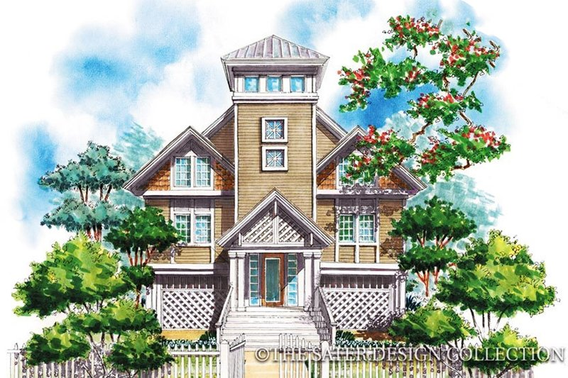 Dream House Plan - Country Exterior - Front Elevation Plan #930-63