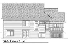 Dream House Plan - Traditional Exterior - Rear Elevation Plan #70-776