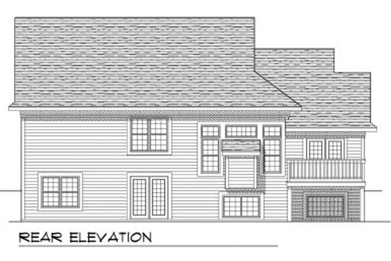 Traditional Exterior - Rear Elevation Plan #70-776 - Houseplans.com