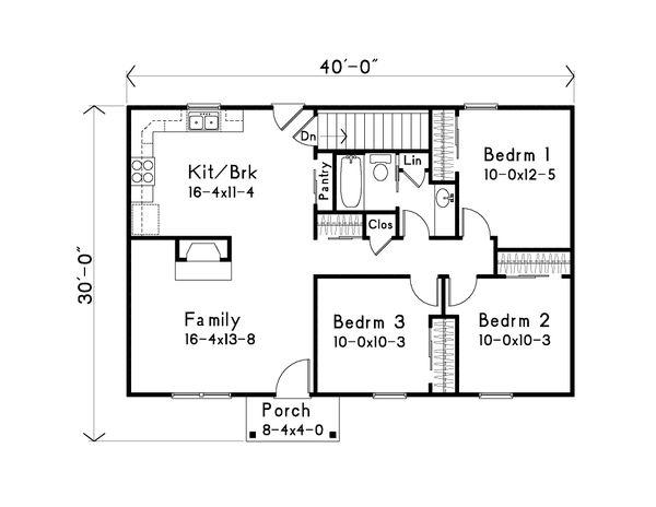 Home Plan Design - Ranch Floor Plan - Main Floor Plan #22-586