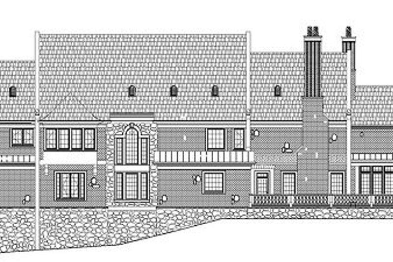 European Exterior - Rear Elevation Plan #119-301 - Houseplans.com