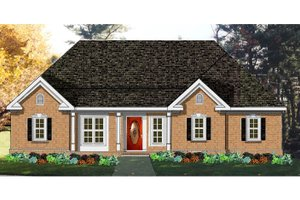 Home Plan - Ranch Exterior - Front Elevation Plan #3-150