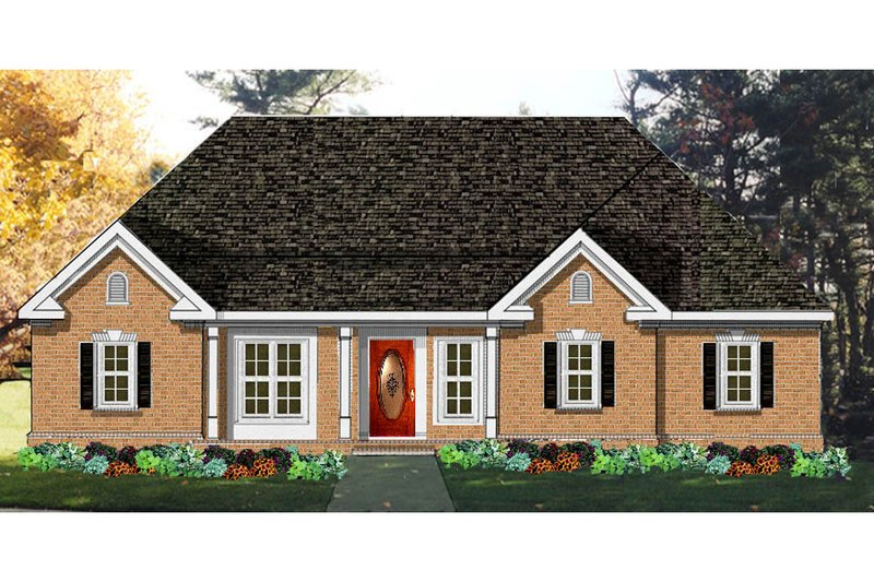 Architectural House Design - Ranch Exterior - Front Elevation Plan #3-150