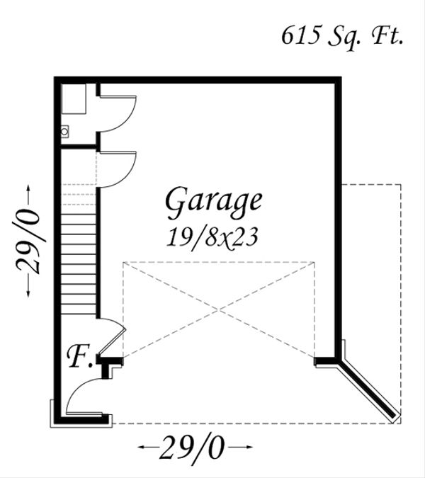 Modern Floor Plan - Main Floor Plan Plan #509-32