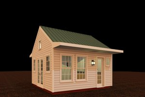 Colonial Exterior - Front Elevation Plan #917-23