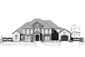 Mediterranean Exterior - Front Elevation Plan #411-126