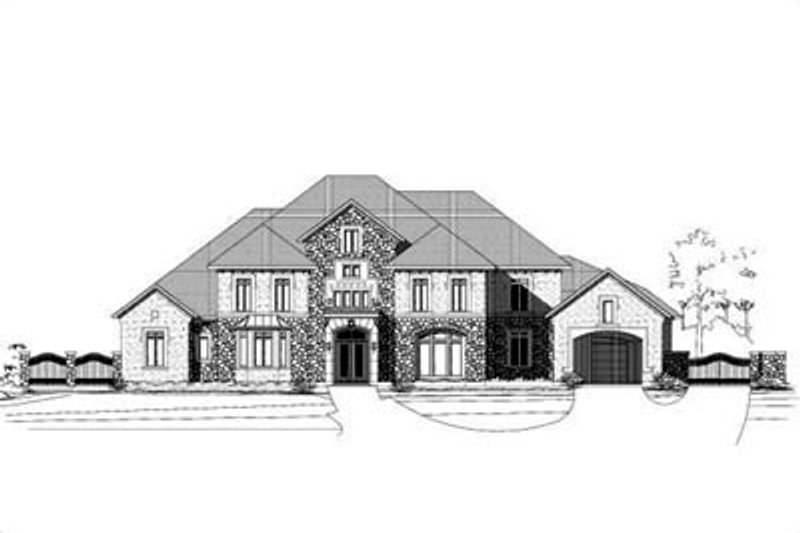 Mediterranean Style House Plan - 4 Beds 5.5 Baths 7507 Sq/Ft Plan #411-126 Exterior - Front Elevation