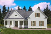 Traditional Style House Plan - 3 Beds 2 Baths 1985 Sq/Ft Plan #54-397 Exterior - Front Elevation