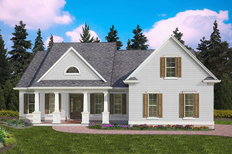 Home Plan - Traditional Exterior - Front Elevation Plan #54-397