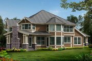 Craftsman Style House Plan - 4 Beds 3.5 Baths 3590 Sq/Ft Plan #132-186 Exterior - Rear Elevation