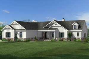 Home Plan - Craftsman Exterior - Front Elevation Plan #1057-18