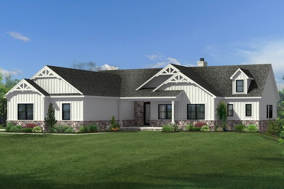Craftsman Exterior - Front Elevation Plan #1057-18