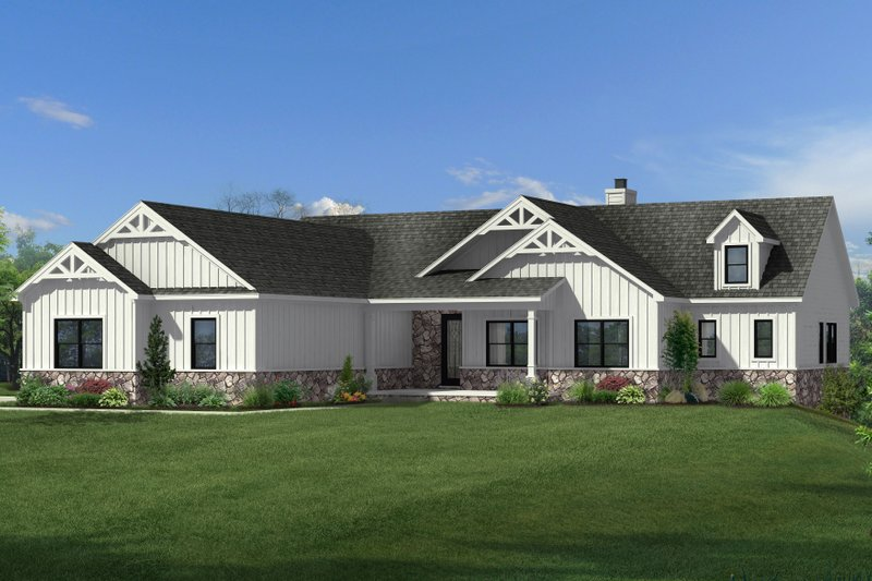 Craftsman Style House Plan - 3 Beds 2.5 Baths 2325 Sq/Ft Plan #1057-18