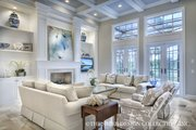 European Style House Plan - 5 Beds 3.5 Baths 3539 Sq/Ft Plan #930-486 Interior - Family Room