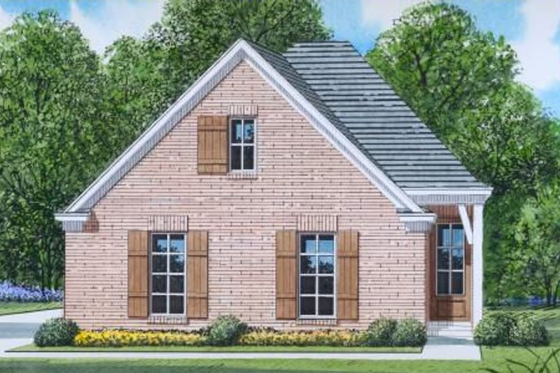 European Style House Plan - 3 Beds 2 Baths 1281 Sq/Ft Plan #424-102 Exterior - Front Elevation