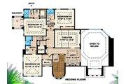 Mediterranean Style House Plan - 4 Beds 5.5 Baths 4798 Sq/Ft Plan #27-386 Floor Plan - Upper Floor Plan