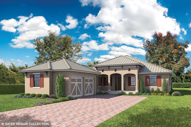 Architectural House Design - Country Exterior - Front Elevation Plan #930-466