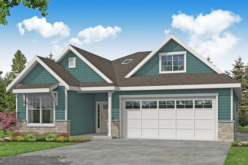 Home Plan - Ranch Exterior - Front Elevation Plan #124-1191