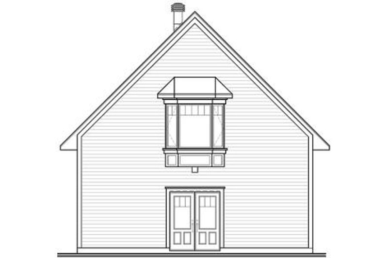 Traditional Exterior - Rear Elevation Plan #23-443 - Houseplans.com