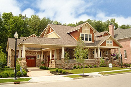 Craftsman Exterior - Front Elevation Plan #458-5