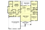 Craftsman Style House Plan - 3 Beds 2 Baths 1657 Sq/Ft Plan #430-149 Floor Plan - Main Floor
