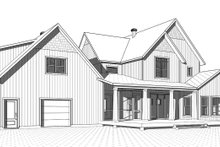 Farmhouse Exterior - Rear Elevation Plan #23-2687