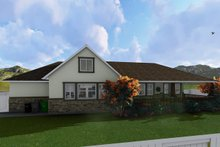 House Plan Design - Ranch Exterior - Rear Elevation Plan #1060-2