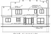Traditional Style House Plan - 4 Beds 3.5 Baths 2752 Sq/Ft Plan #20-1006 Exterior - Rear Elevation