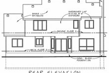 Dream House Plan - Traditional Exterior - Rear Elevation Plan #20-1006